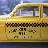CHEVROLET SEDAN 1950 TAXI 1/43 SOLIDO CHECKER CAB - car-collector.net
