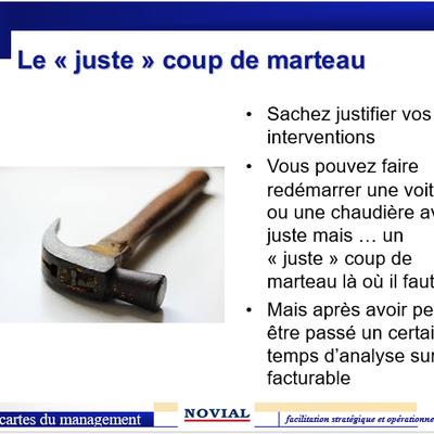 """LE """"JUSTE"""" COUP DE MARTEAU - LES CARTES DU MANAGEMENT"""