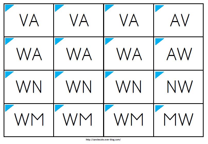Lettres majuscules d'imprimerie