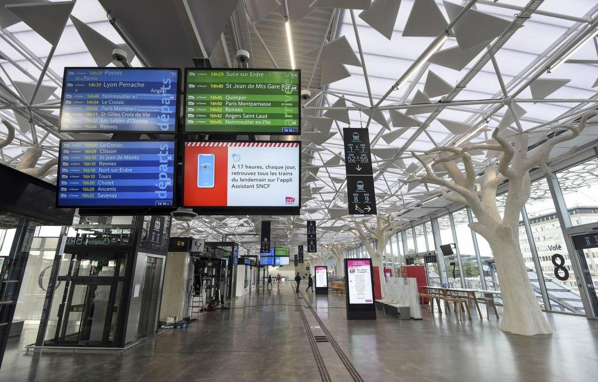 La gare de Nantes vide pendant le confinement (Photo Sébastien Salom)