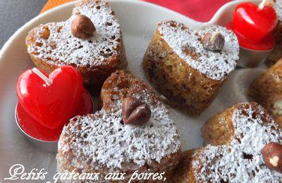 Petits gâteaux aux poires, noisettes & Ricotta