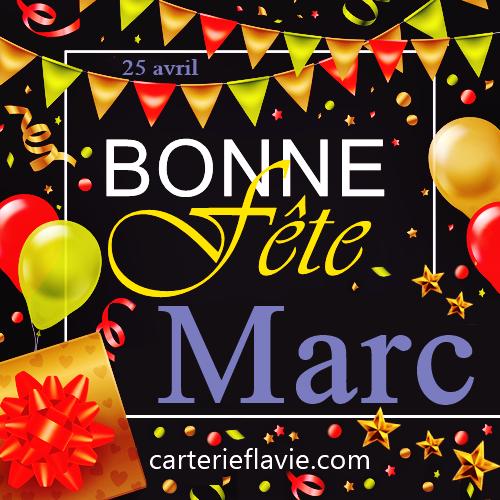En ce 25 avril, nous souhaitons une bonne fête à Marc 🙂