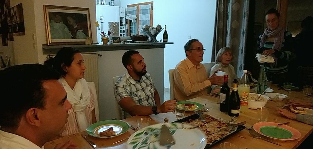 Le soir du 3 octobre 2020 :  repas chez Olivier (groupe de rencontres en quartier) après la messe de confirmation,