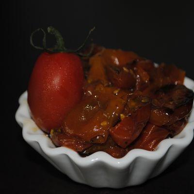 Tomates cerises confites au four en 1h !