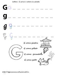 Lettera G -  g