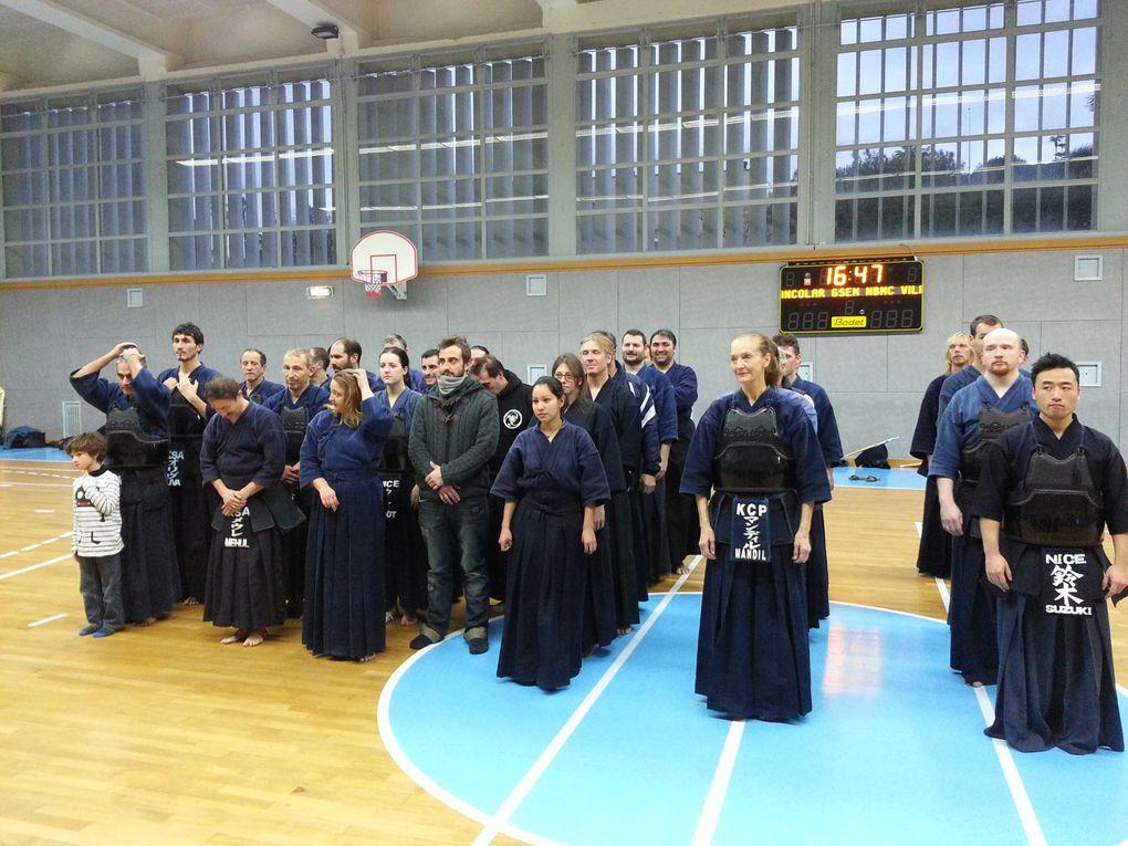 Championnat IR 2014 Fudokan  3è  Équipe, 3è Honneur et 3è Excellence. 1er en Féminine. 19 01 2014 à Nice