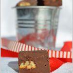 Fudge au chocolat et aux noix de pécan caramélisées