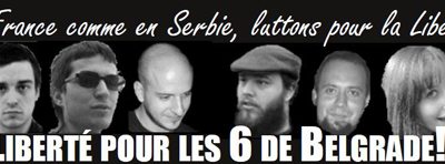 Six compagnons serbes accusés de terrorisme international!