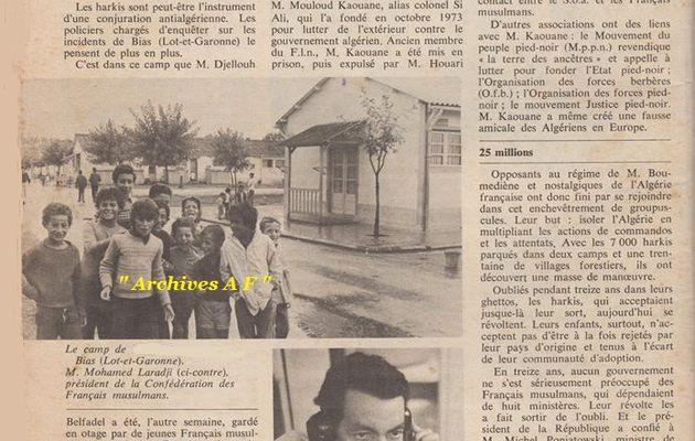 Souvenez-vous ! (Retour en Arrière ) la révolte des enfants de harkis (1) Bias août 1975