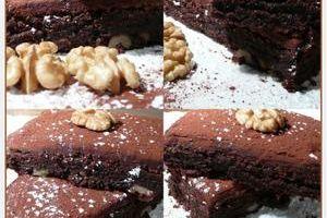 brownie à la ganache & aux noix