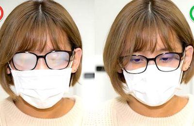 Masque et lunettes : comment éviter la buée