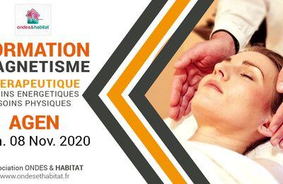 """AGEN-Formation : """"Magnétisme et soins énergétiques"""" Découverte initiation Formation CertifianteDimanche 08 Novembre 2020"""