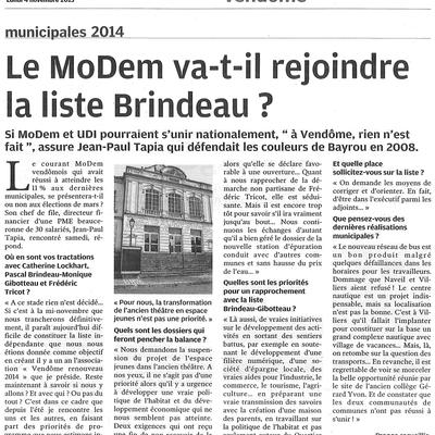 Interview de Jean-Paul TAPIA dans la Nouvelle République