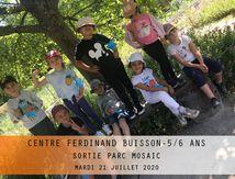 CENTRE FERDINAND BUISSON-PARC MOSAIC-5/6 ANS-Mardi 21 juillet 2020