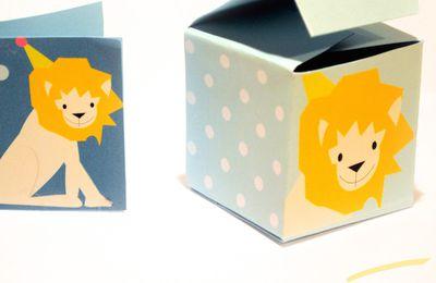 Une petite boite pour un petit lion