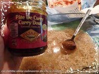Crevettes au curry et riz complet
