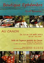 Boutique éphémère au Canon (du 12 au 18 août 2011)