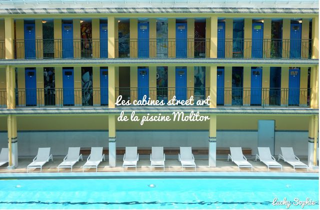 Les cabines street art de la piscine Molitor
