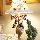 How to Recover a Lampshade - Positively Splendid {Crafts, Sewing, Recipes and Home Decor}