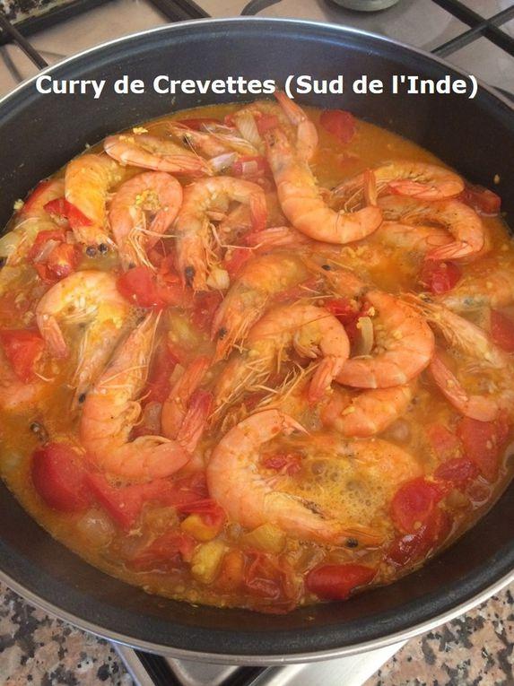 Curry de Crevettes (Sud de l'Inde)
