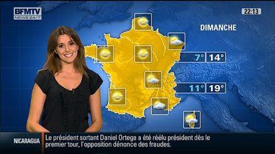 2011 11 07 @21H14 - FANNY AGOSTINI - BFM TV - METEO