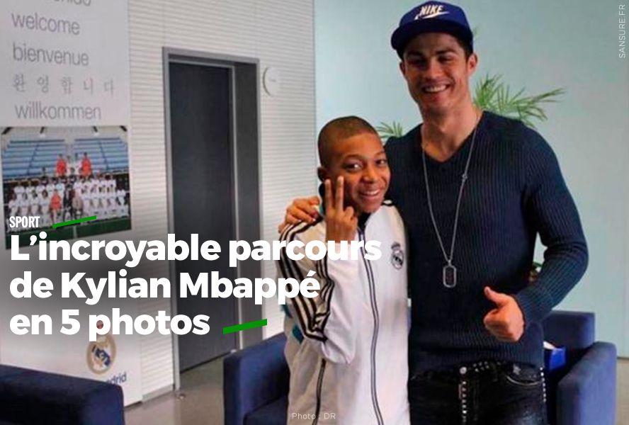L'incroyable parcours de Kylian Mbappé en 5 photos (diaporama) #CM18