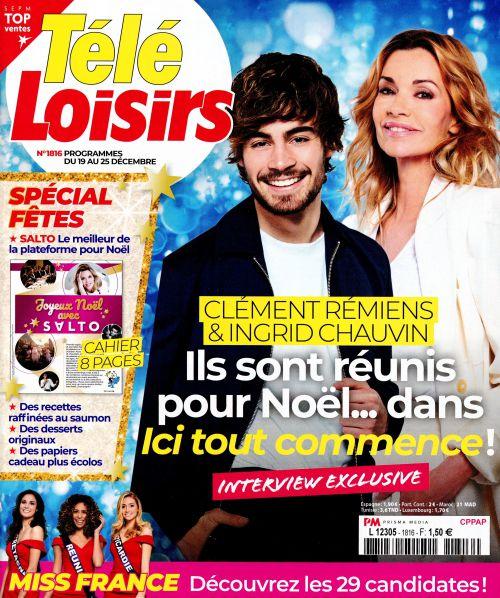 La Une de 11 nouveaux numéros de la presse TV : Clément Rémiens, Sophie Davant, Miss France...