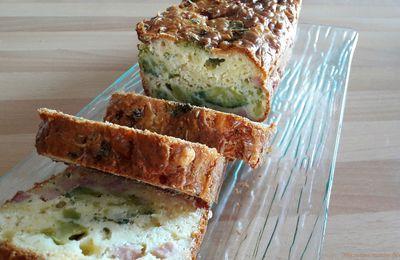 Cake au brocoli, au jambon et au gouda