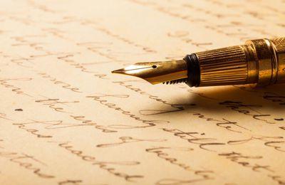 La plume de l'habile écrivain
