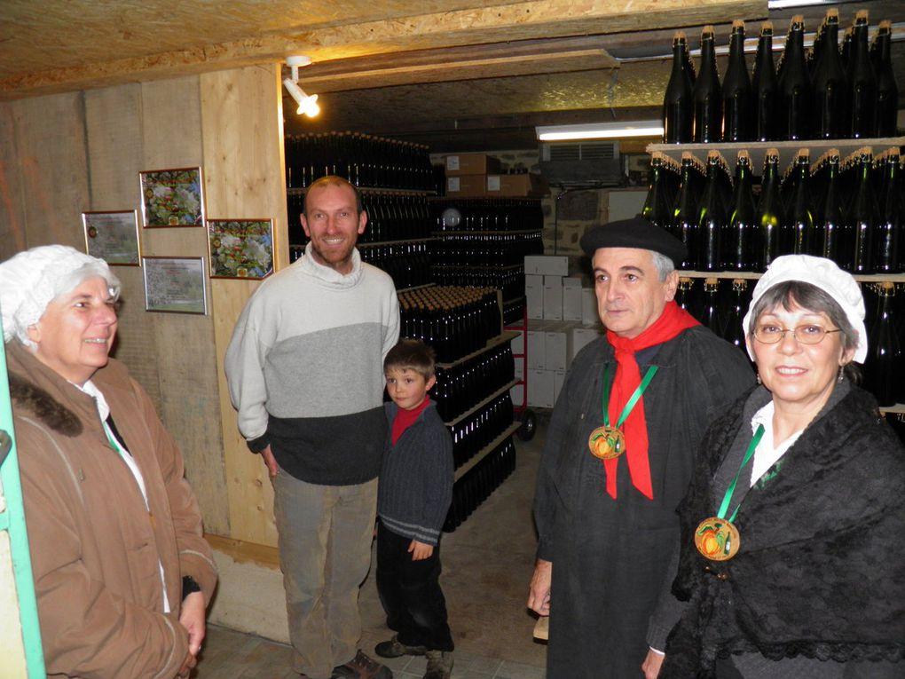 Photos de la visite au Verger dela Dagueneterie.