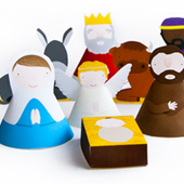 Print and build a nativity set   How About Orange