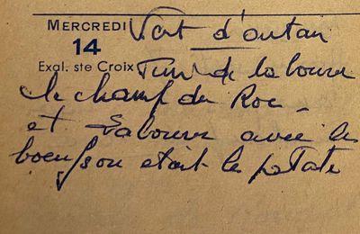 Mercredi 14 septembre 1960 - où étaient les patates