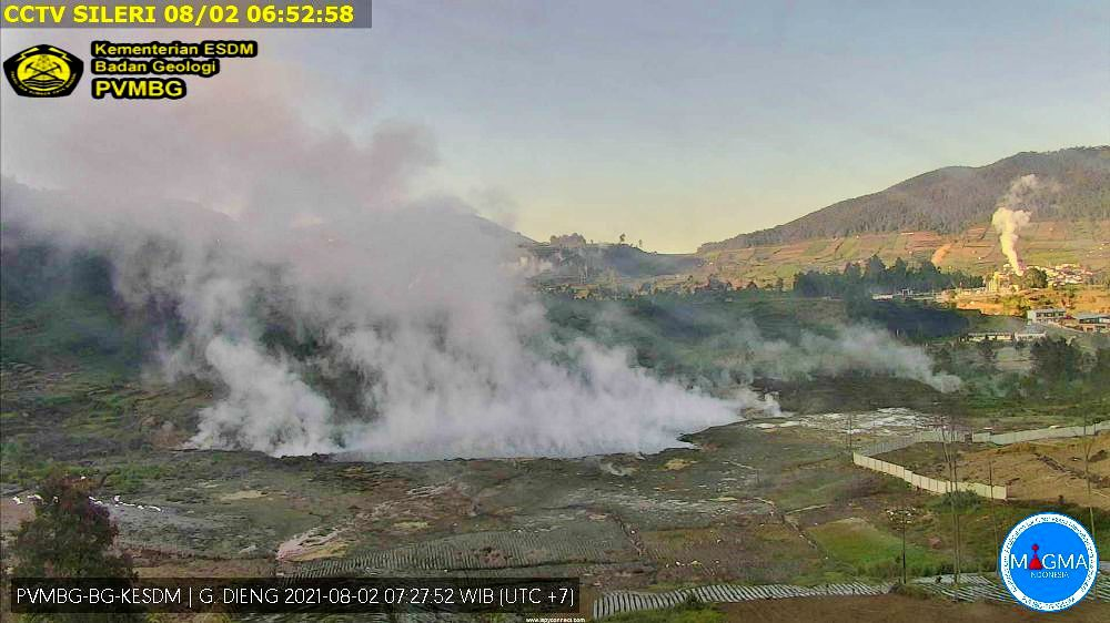 The Dieng plateau is an active area - the Sileri crater on 02.08.2021 / 07:27 WIB - Doc. PVMBG