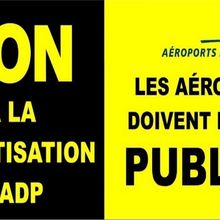 Signez la pétition contre la privatisation d'Aéroports de Paris