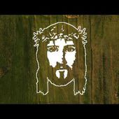 Jesus art work from paper on 4000 square meter