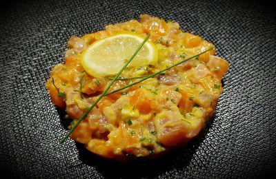 Tartare de saumon et thon