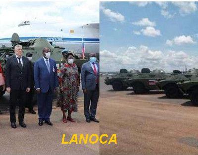 Prise de service du bureau militaire de la Russie à Bangui