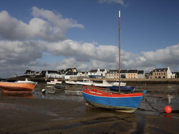 Marée basse à Portsall..