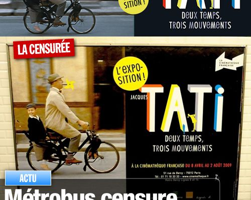 Métrobus censure la pipe de Jacques Tati !