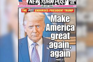 ÉNORME ! Le New York Post soutient le président Trump !