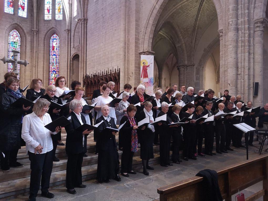 Concert du dimanche 13 octobre à la collégiale avec le groupe vocal Octavium et les choeurs Maristes de la Verpillière accompagné de Pascal Macaudière au piano