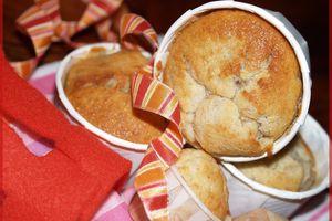 Muffins Banane , Poire et Amandes