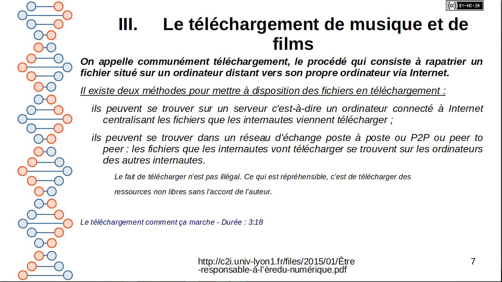 """3ème séance :  """" réglementation numérique"""""""