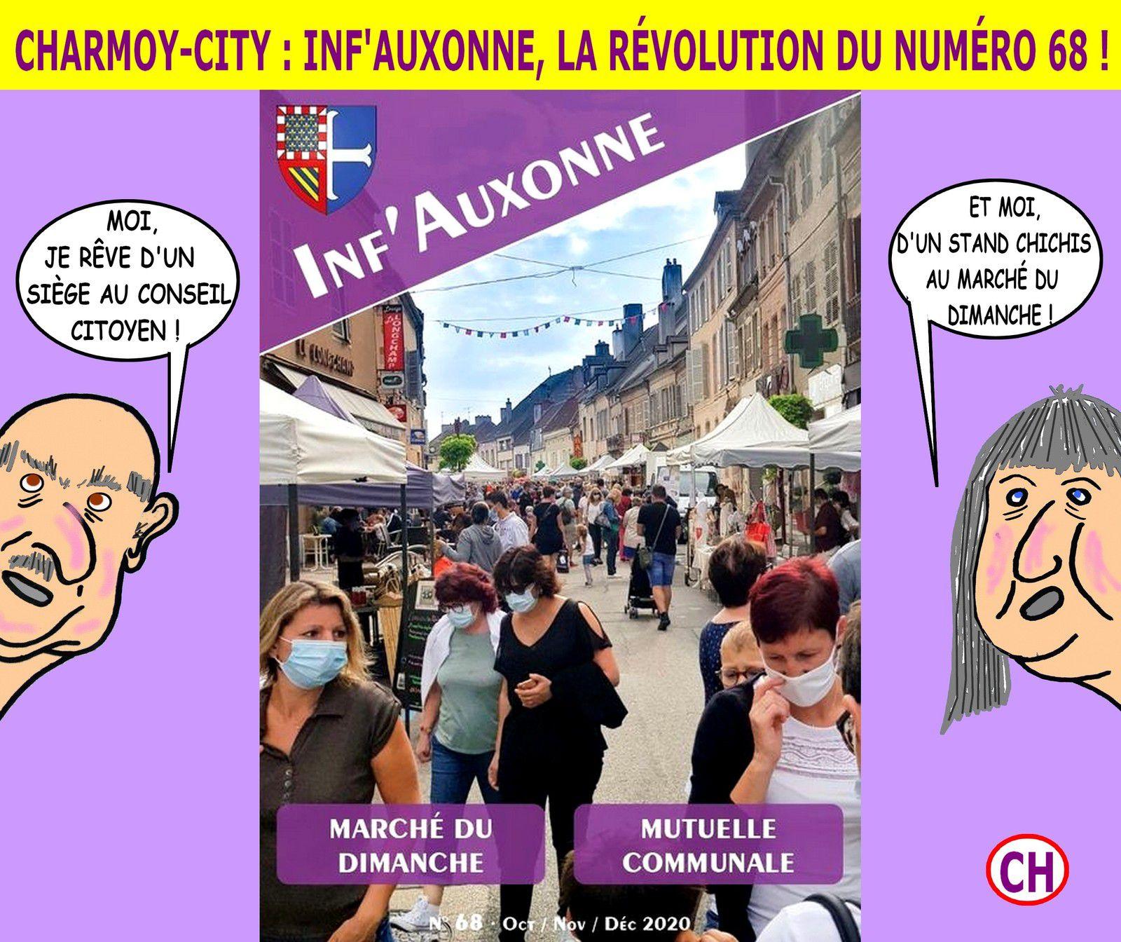 CHARMOY-CITY : INF'AUXONNE, LA RÉVOLUTION DU 68 ! - du 20 octobre 2020 (J+4325 après le vote négatif fondateur)