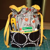 In Color Order: Lined Drawstring Bag Pocket Tutorial