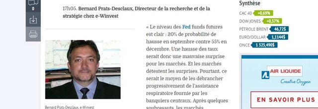 LesEchos/Investir: Live Fed! Ma contribution