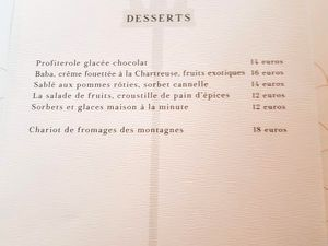 Menu La Fontaine Gaillon