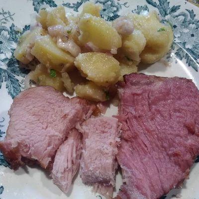 Kassler et salade de pommes de terre