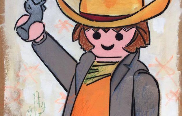Cowboy aux cactus