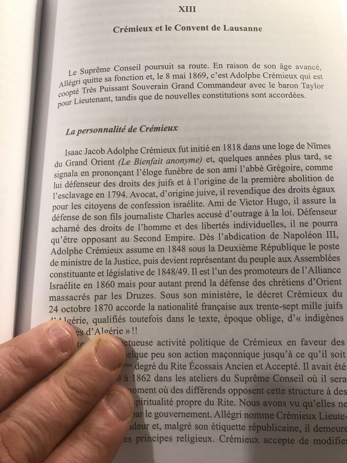 """Claude Collin : """"Origine et gouvernance du Rite Ecossais Ancien et Accepté par un ancien Grand Commandeur"""". Un livre majeur."""